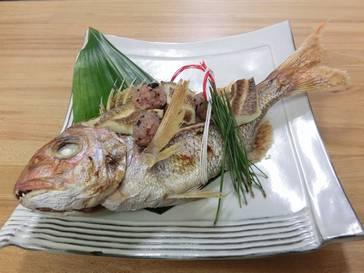 旬菜 時彩物語 「にらみ鯛」   上諏訪温泉 しんゆ